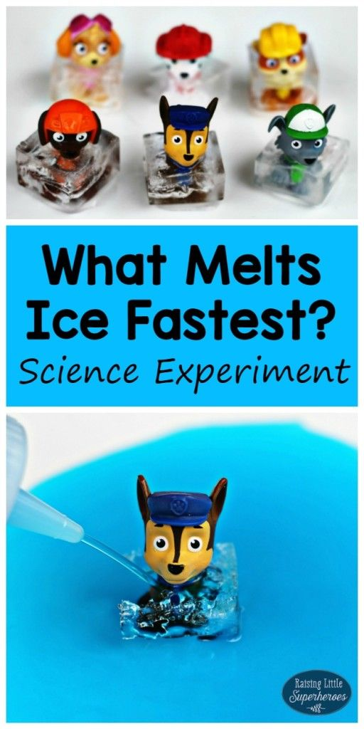 What Makes Ice Melt Fastest Science Experiment Kids Science