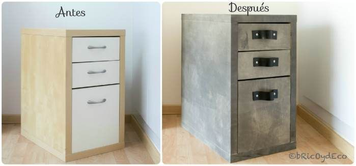 Como transformar un mueble de melamina con chalk paint for Transformar muebles de ikea