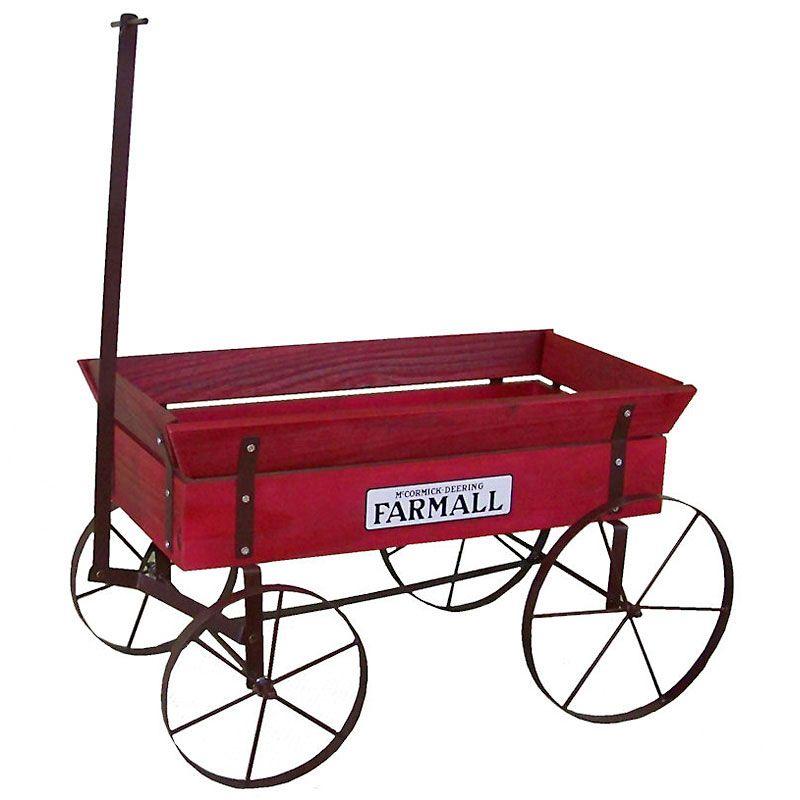 Farmall Wooden Country Wagon Planter