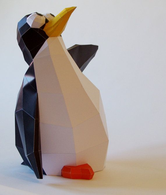 Papercraft Penguin template DIY, cartoony (40cm) on Etsy, $6697 - penguin template