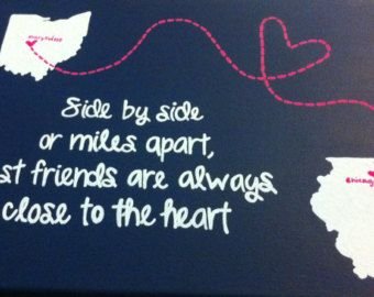 Side By Side Or Miles Apart Friends Are Always Close To The Heart