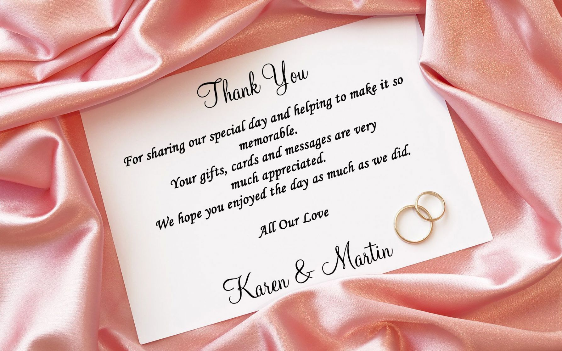 Thank you cards ideas Wedding thank you cards wording