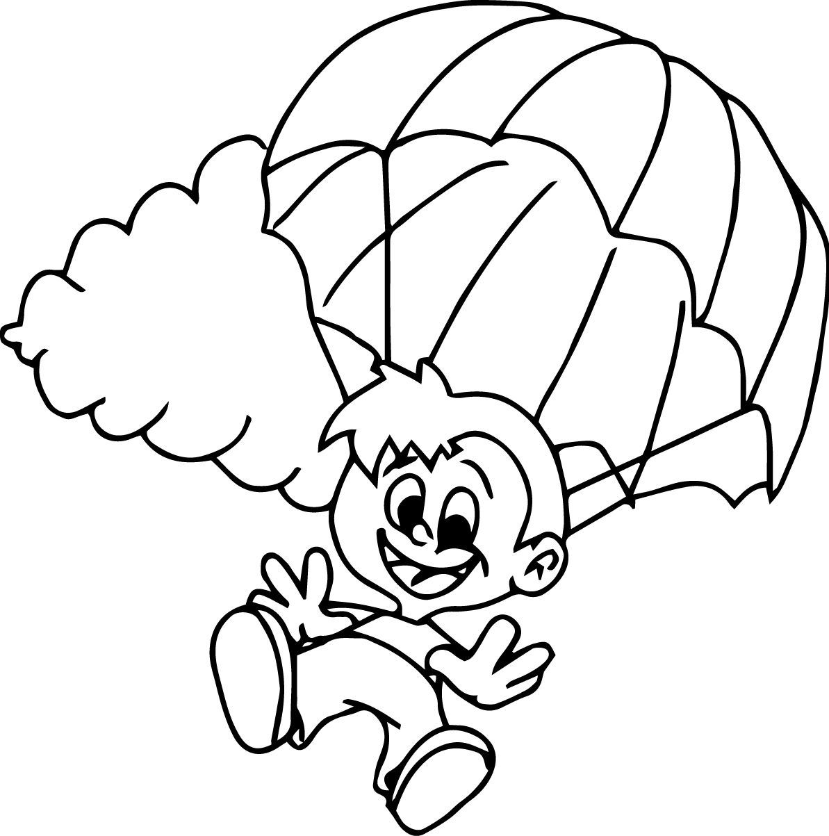 Fortnite Coloring Pages Parachute Coloring Pages