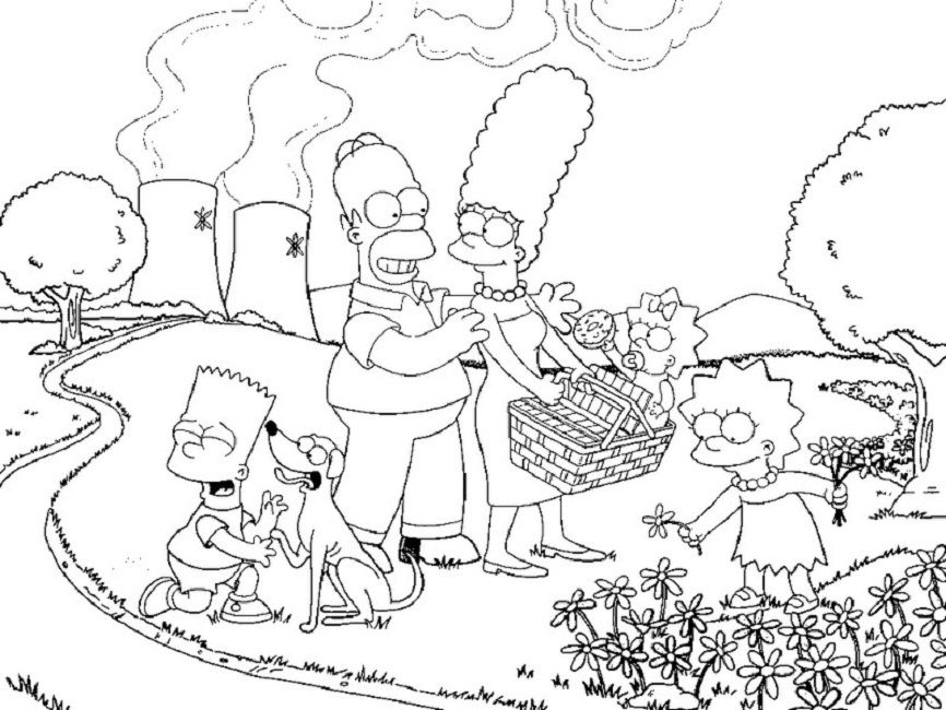 free coloring pages simpsons - photo#42