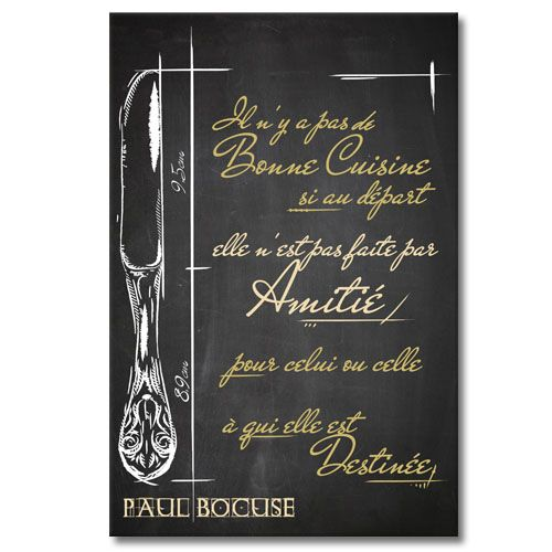 tableau citation paul bocuse la bonne cuisine tableaux d co citations pinterest paul. Black Bedroom Furniture Sets. Home Design Ideas
