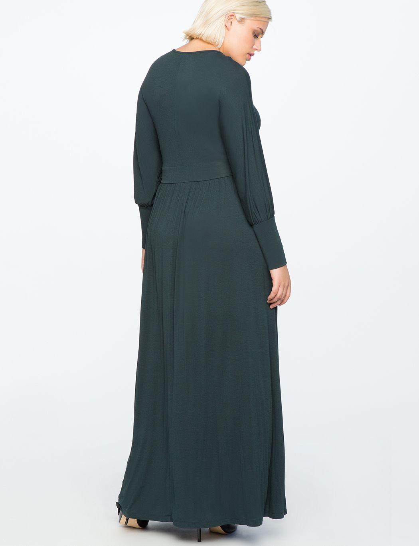 794004c9482 V-Neck Maxi Dress BLACK FOREST