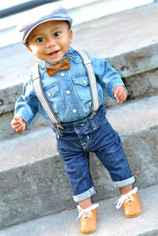 sports shoes 6757d 7d3fe kleidung für baby jeans outfit hosentraeger muetze junge ...