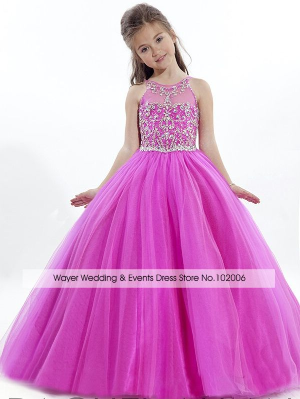 Cheap 2015 Celebrity Girls Pageant vestidos para niñas Rhinestone ...