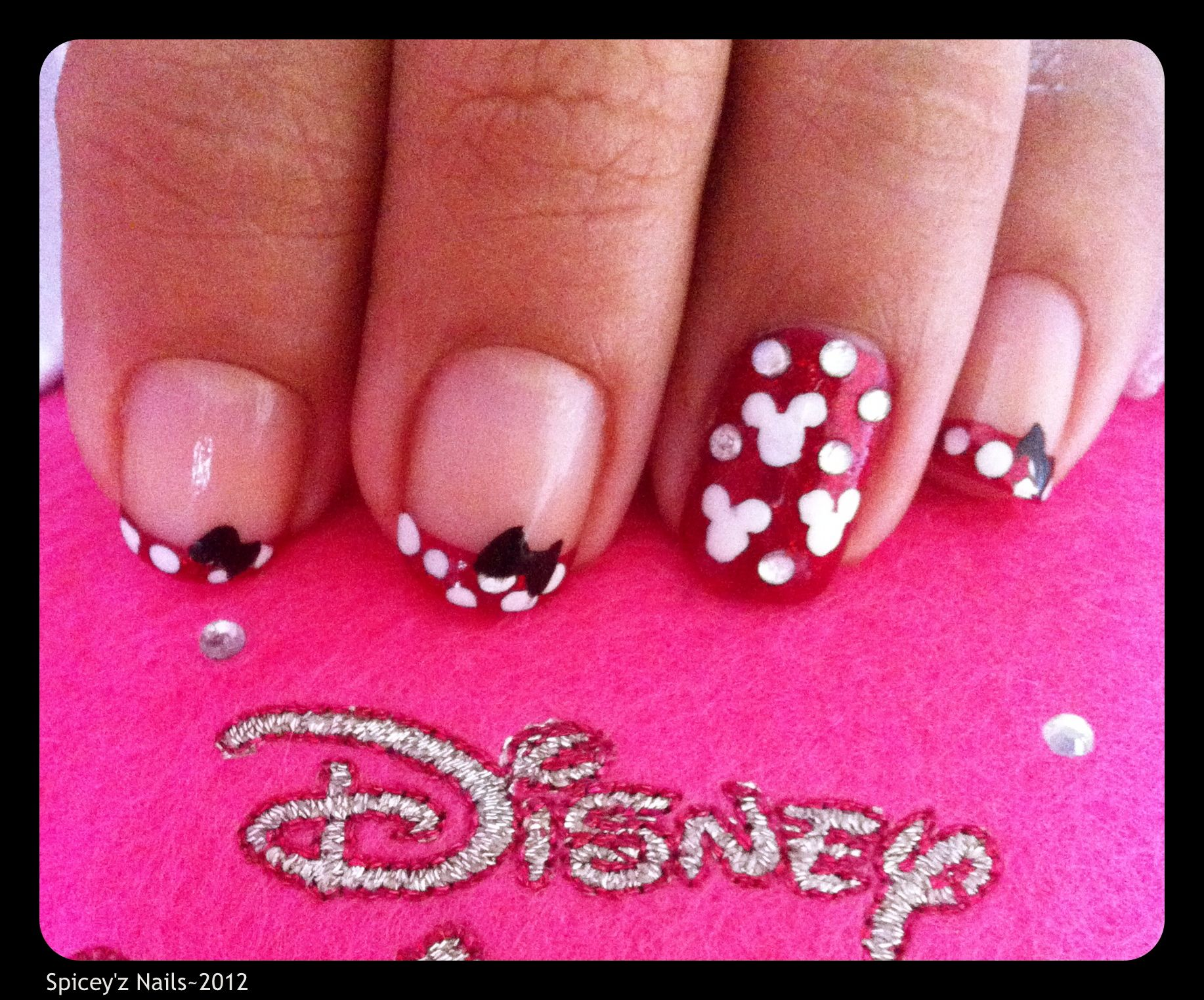 My Minnie Mouse Nail Art....   Spicey\'z Nails!..<3   Pinterest ...