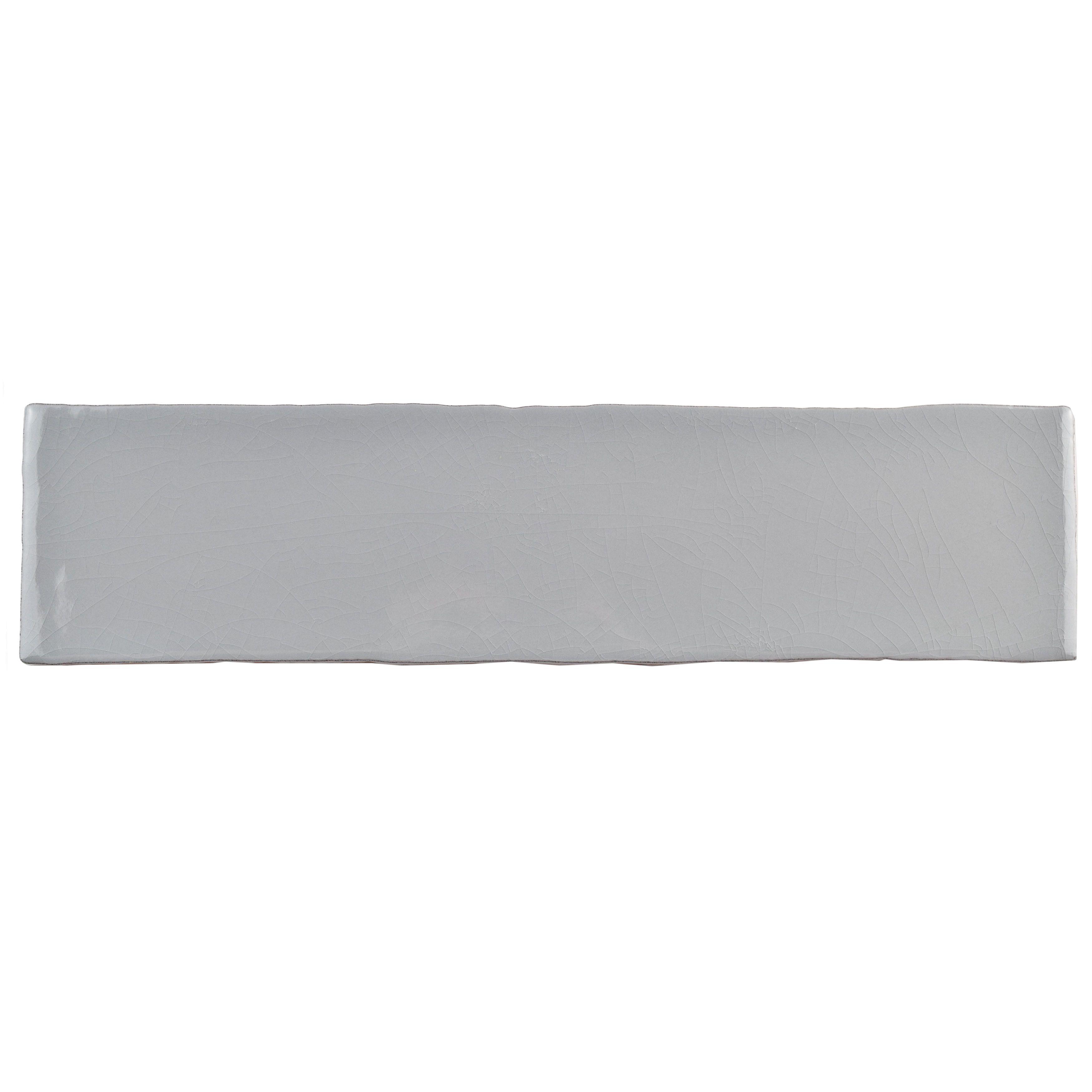 The somertile 3x12 inch juneau craquele soho grey ceramic wall the somertile 3x12 inch juneau craquele soho grey ceramic wall tile features a gray crackle dailygadgetfo Gallery