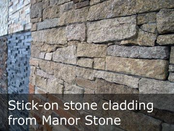 Stick On Stone Tiles Display Panels Showing Cladding