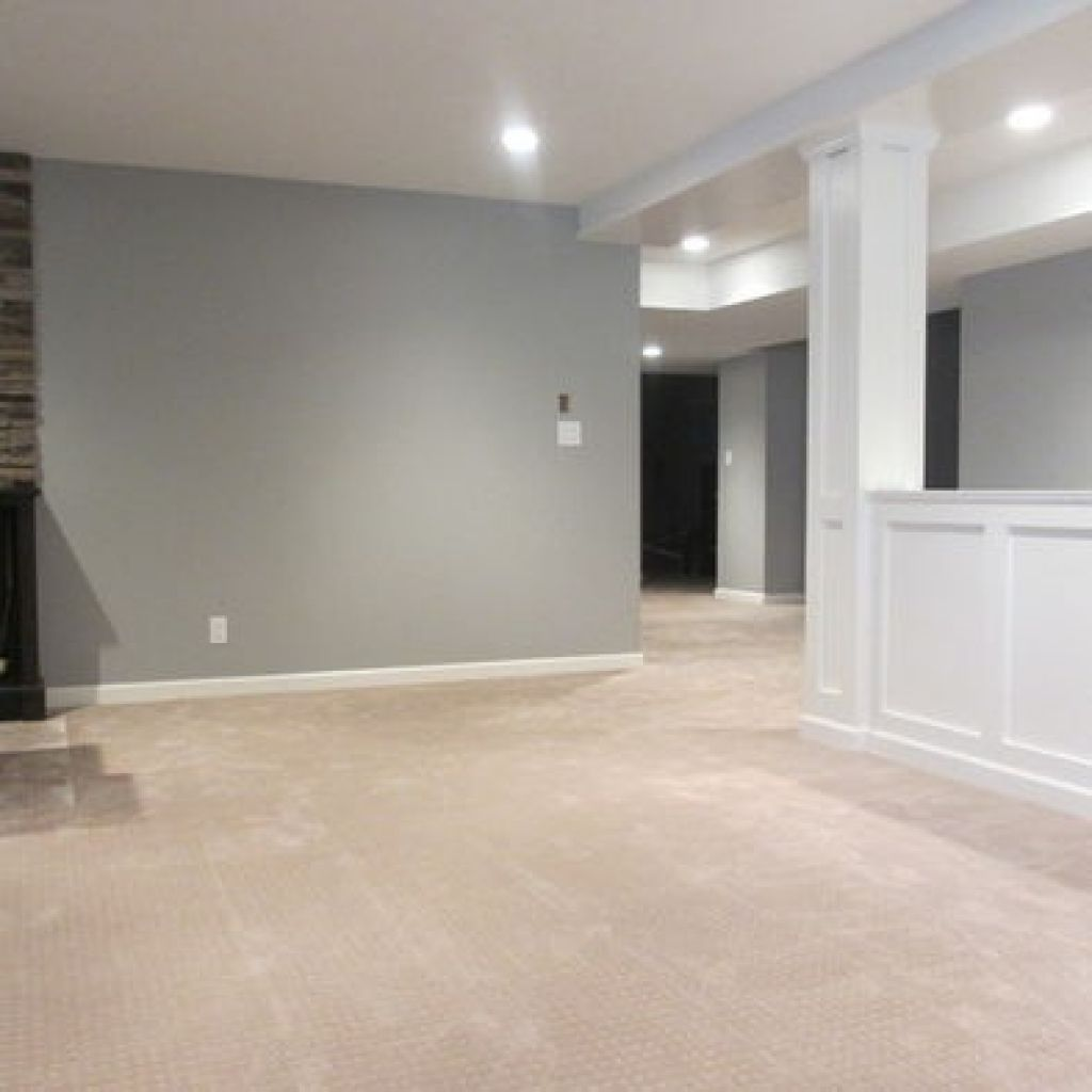 Grey Basement Ideas: The Decoration In Neutral Colors, Although Usually Very
