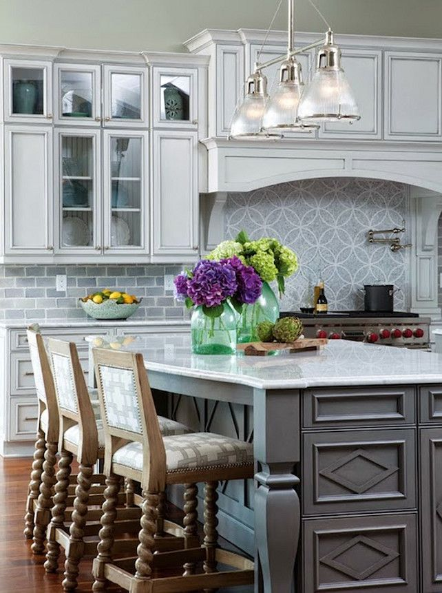 awesome turquoise kitchen cabinets dining | Gray Cabinet Restoration Hardware Silver Sage. # ...