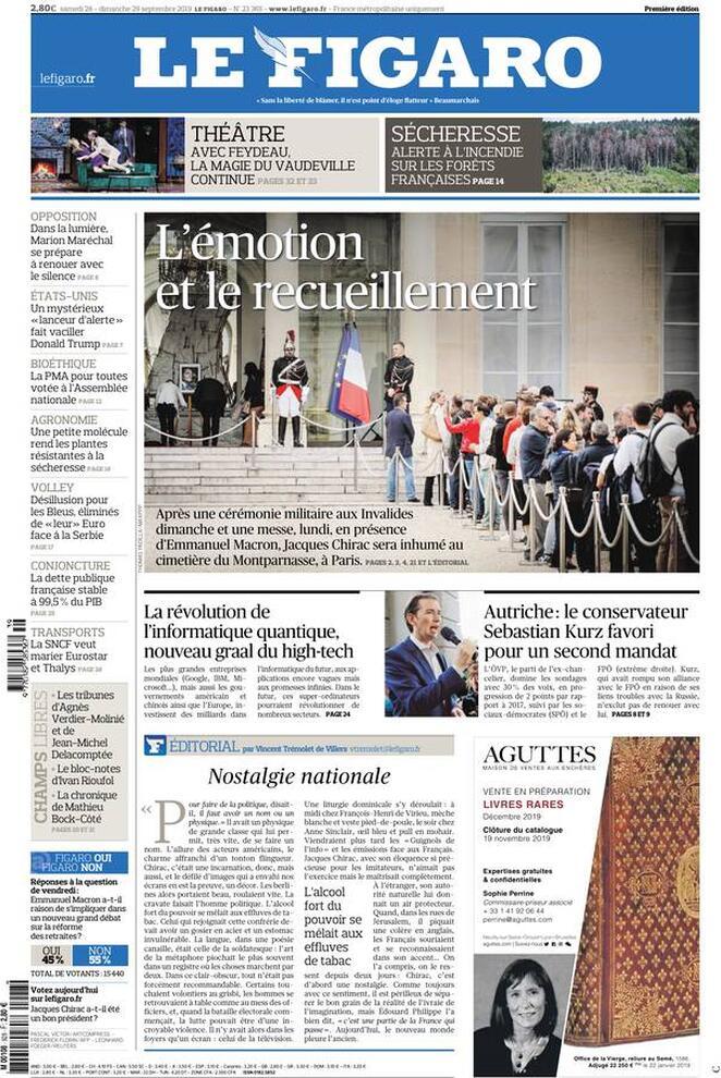 Prima Pagina Le Figaro Giornalone Copertina Giornale