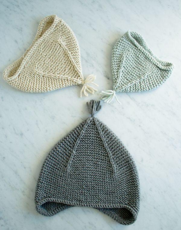 Laura\'s Loop: Garter Ear Flap Hat - Purl Soho - Knitting Crochet ...