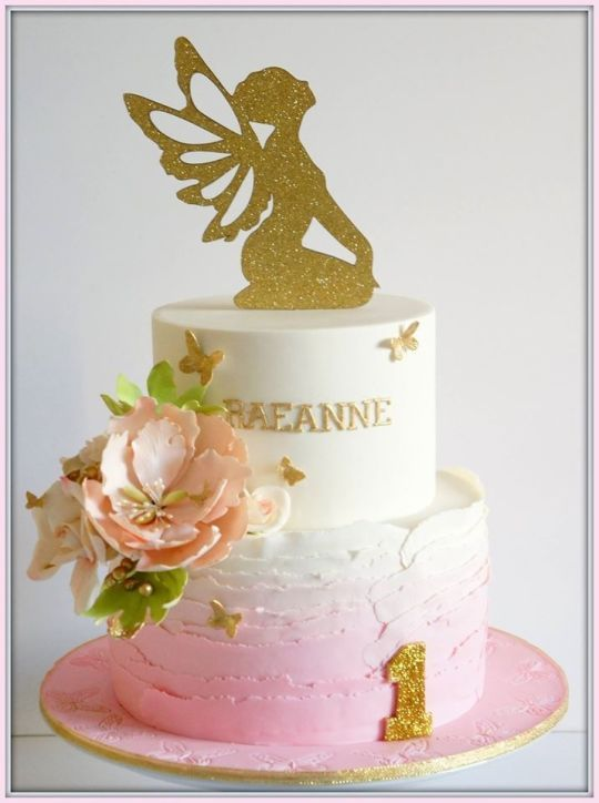 Pleasant Floral Fairy Fairy Birthday Cake Personalised Birthday Cards Sponlily Jamesorg