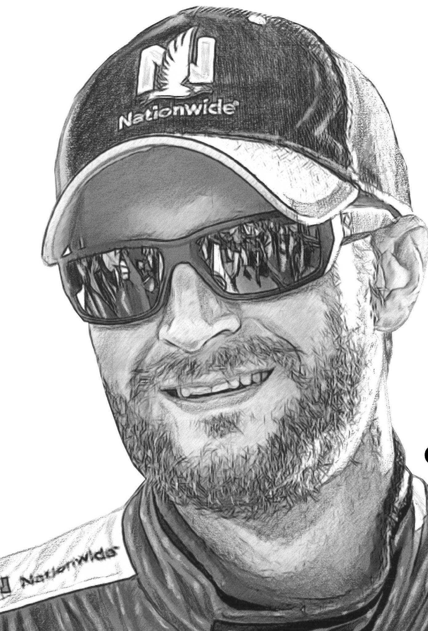 Dale Jr. Sketched by Sam Bass Dale earnhardt jr