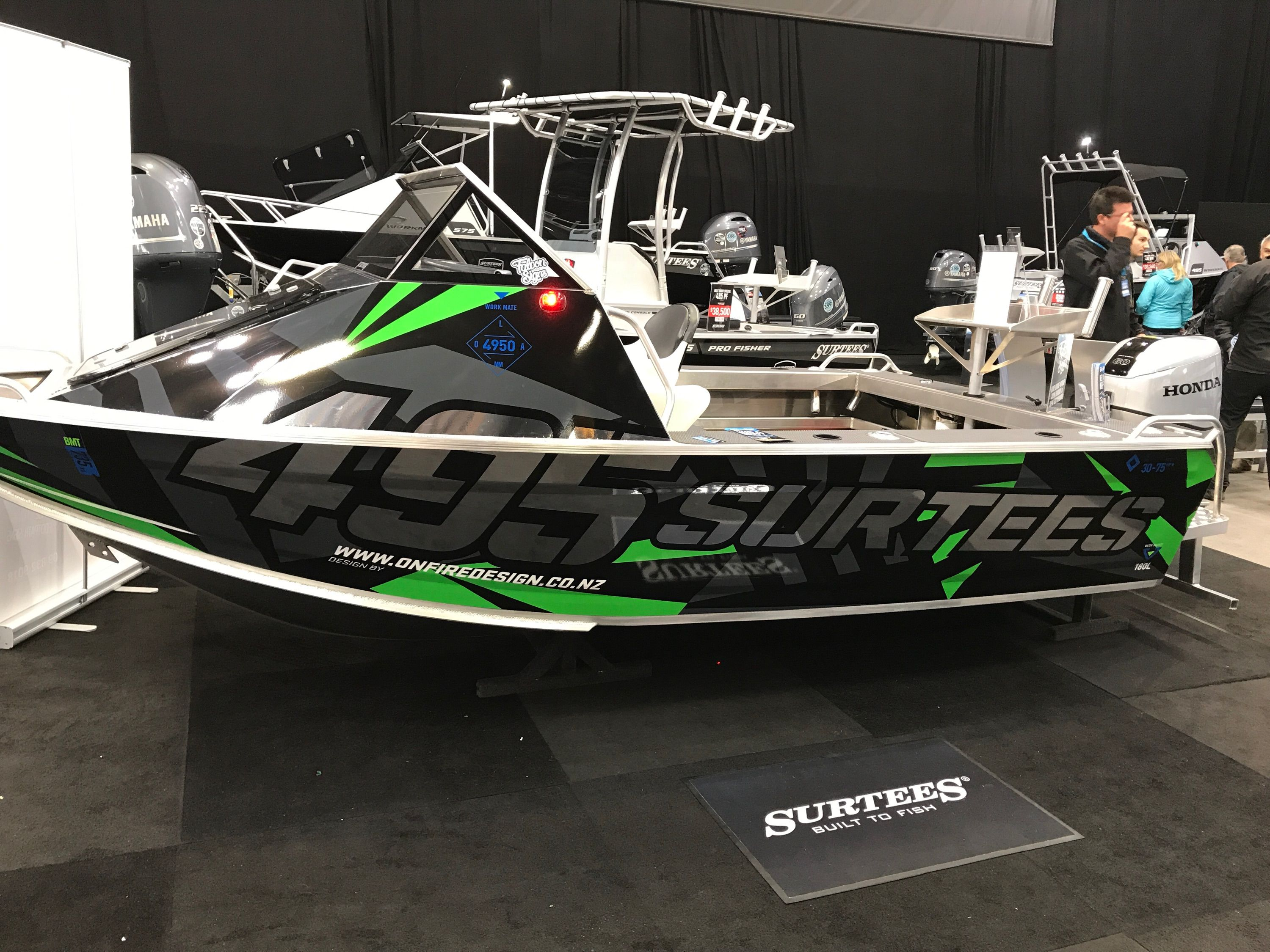 Boat Wrap Design Onfire Design Did For Surtees Boats Visit Www Weareonfire Co Nz Boat Wraps Vehicle Signage Car Wrap