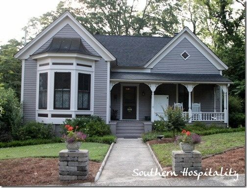Grey House Black Windows With White Trim Feels Too Busy House Paint Exterior Craftsman Home Exterior Exterior House Paint Color Combinations