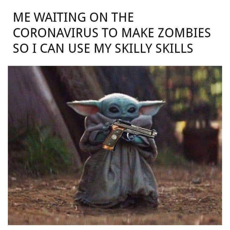 Pin By Trudy Hodgin On Funny In 2020 Yoda Funny Yoda Meme Funny Babies