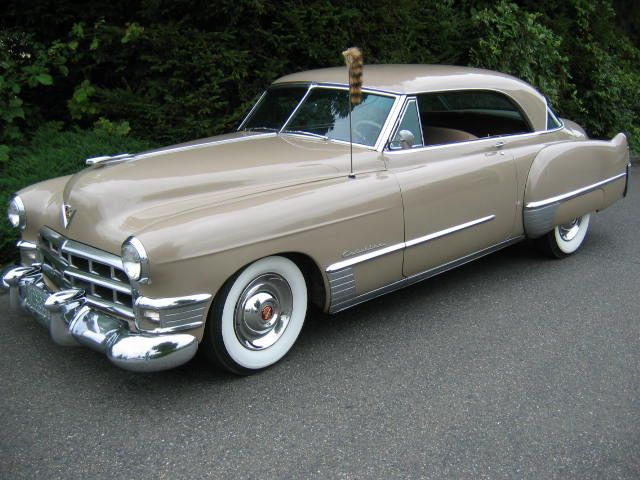 1949 Cadillac Series 62 Coupe DeVille check out the Racoon tail on