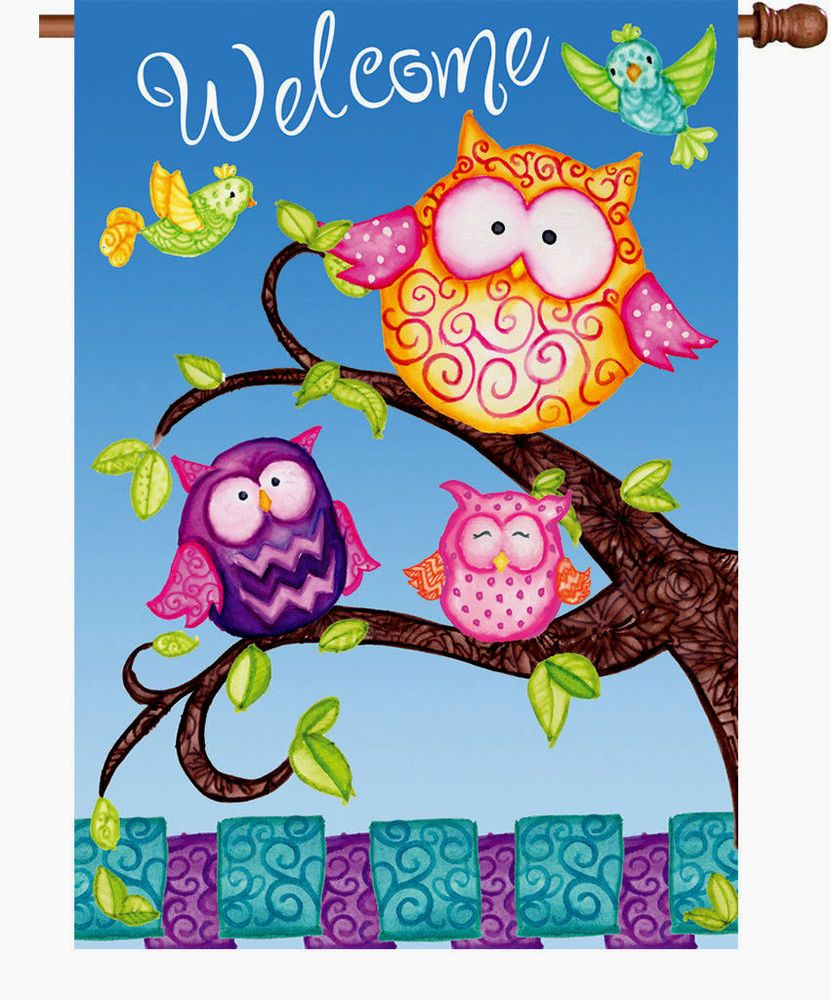 Welcome owls house flag large