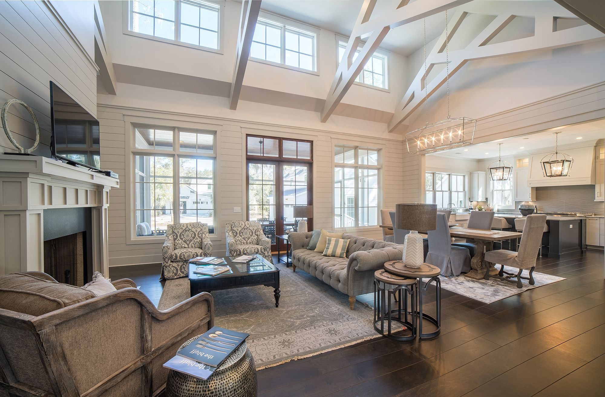 Live Palmetto Bluff Vaulted Living Rooms Vaulted Ceiling Living Room Open Concept Living Room