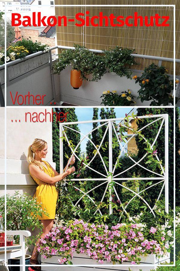 Balkon-Sichtschutz Mauern, Zäune  Sichtschutz Pinterest