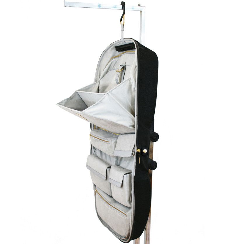 LAMOVE Mobile Closet carry on with cantilevered shelf