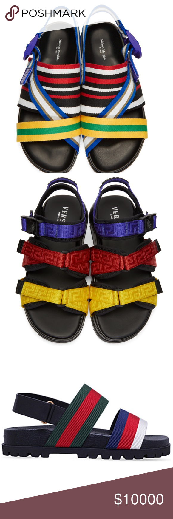 1fc72108dbe31b ISO HELP designer double strap sandals In search of! Designer double strap  colorful sandals EU