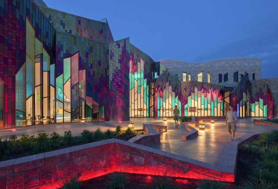 Verner Johnson Inc. Museum at Prairefire -  dichroic glass glows from within. (Sam Fentress)