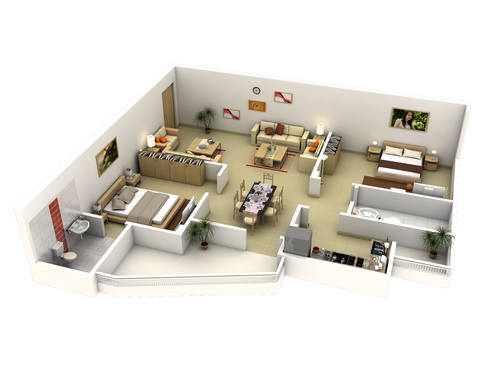 Interior design for double bedroom flat drawings of self contained flat  google search  projetos