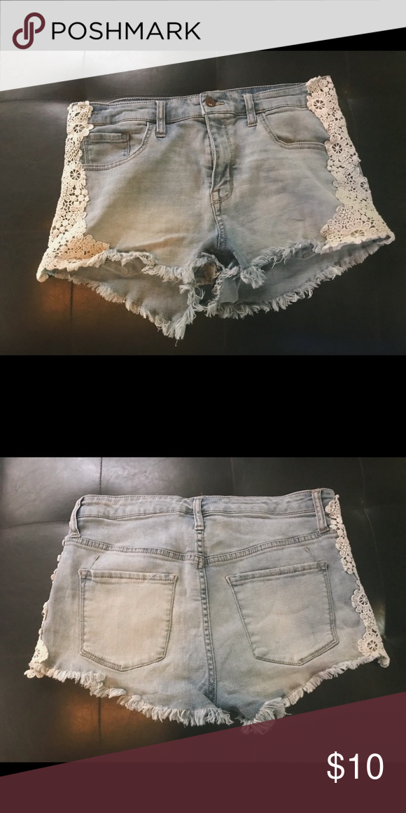 b8bad359a8 Light Wash High Waisted Shorts Light Wash High Waisted Shorts from Target.  Stretch Denim. Like New, only worn once. Size 12. Mossimo Supply Co.