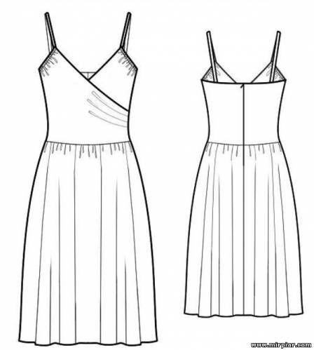 Платье сарафан шить по выкройке