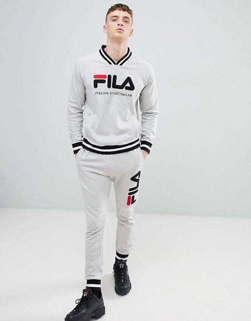 07255efadf2 Fila retro track sweatshirt in grey em 2019