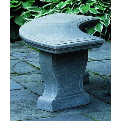 Campania International, Inc Palladio Cast Stone Garden Bench Finish: Aged Limestone