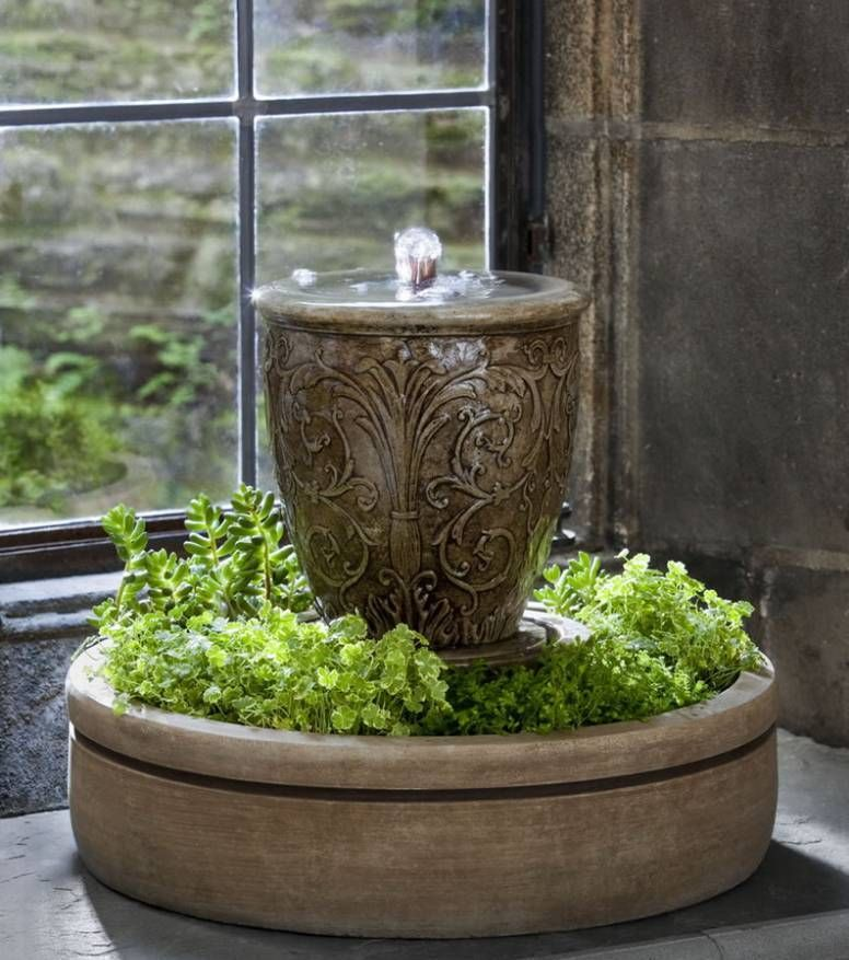 Indoor Water Fountain Arabesque Mini Series Spa With Planter Better Home And Garden