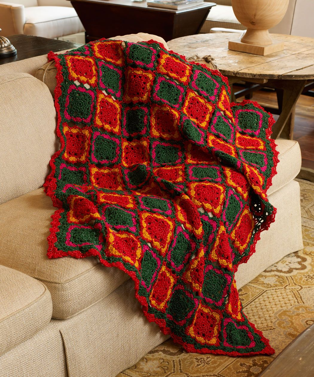 Fun for the holidays throw by katherine eng free crochet pattern fun for the holidays throw by katherine eng free crochet pattern redheart bankloansurffo Image collections