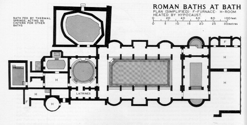 Consilium est templum. This is the floor plan of the baths here at ...