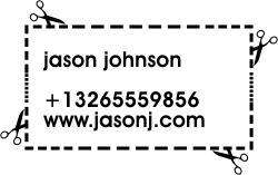 Cutout Customized Business Card Stamp