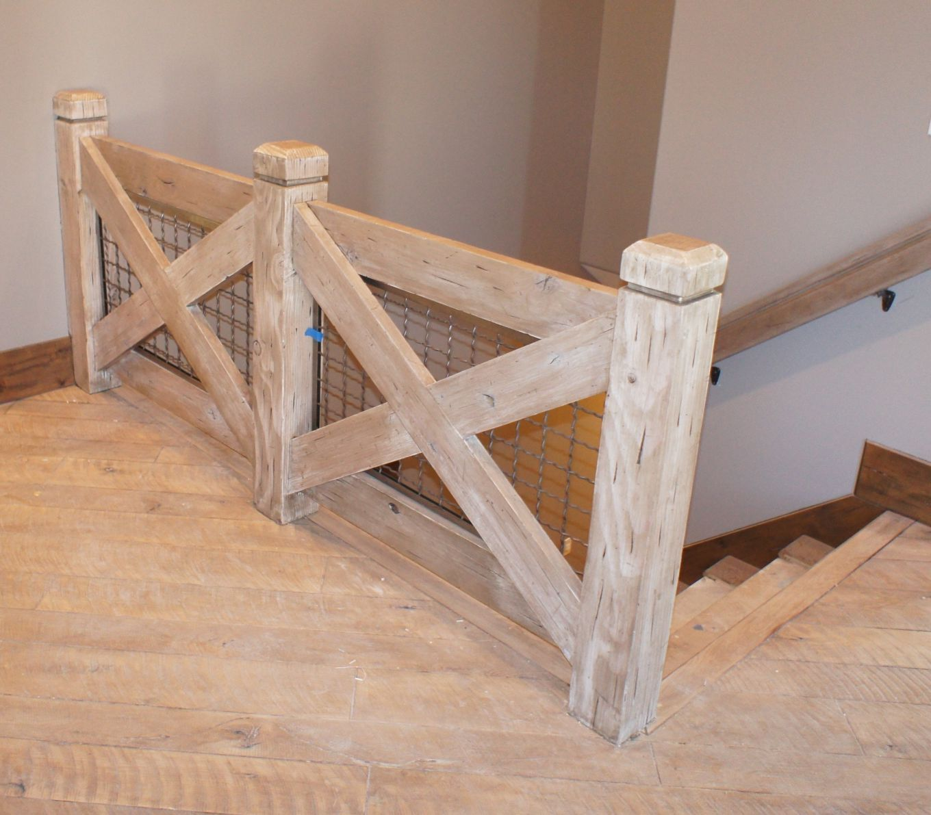 how to build railings at the top of the staircase - Google Search