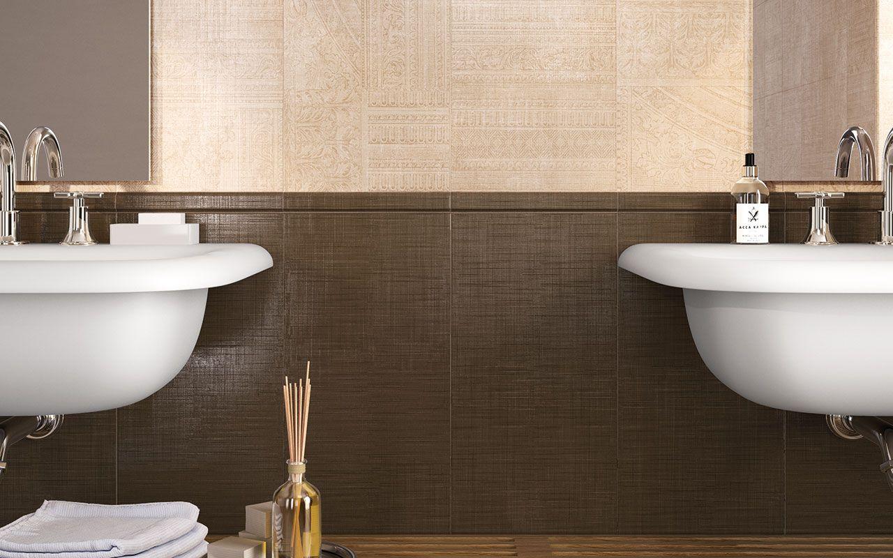 Revetement De Sol Salle De Bain Antiderapant marron #brown #carrelage #salledebain #bathroom #palazzo