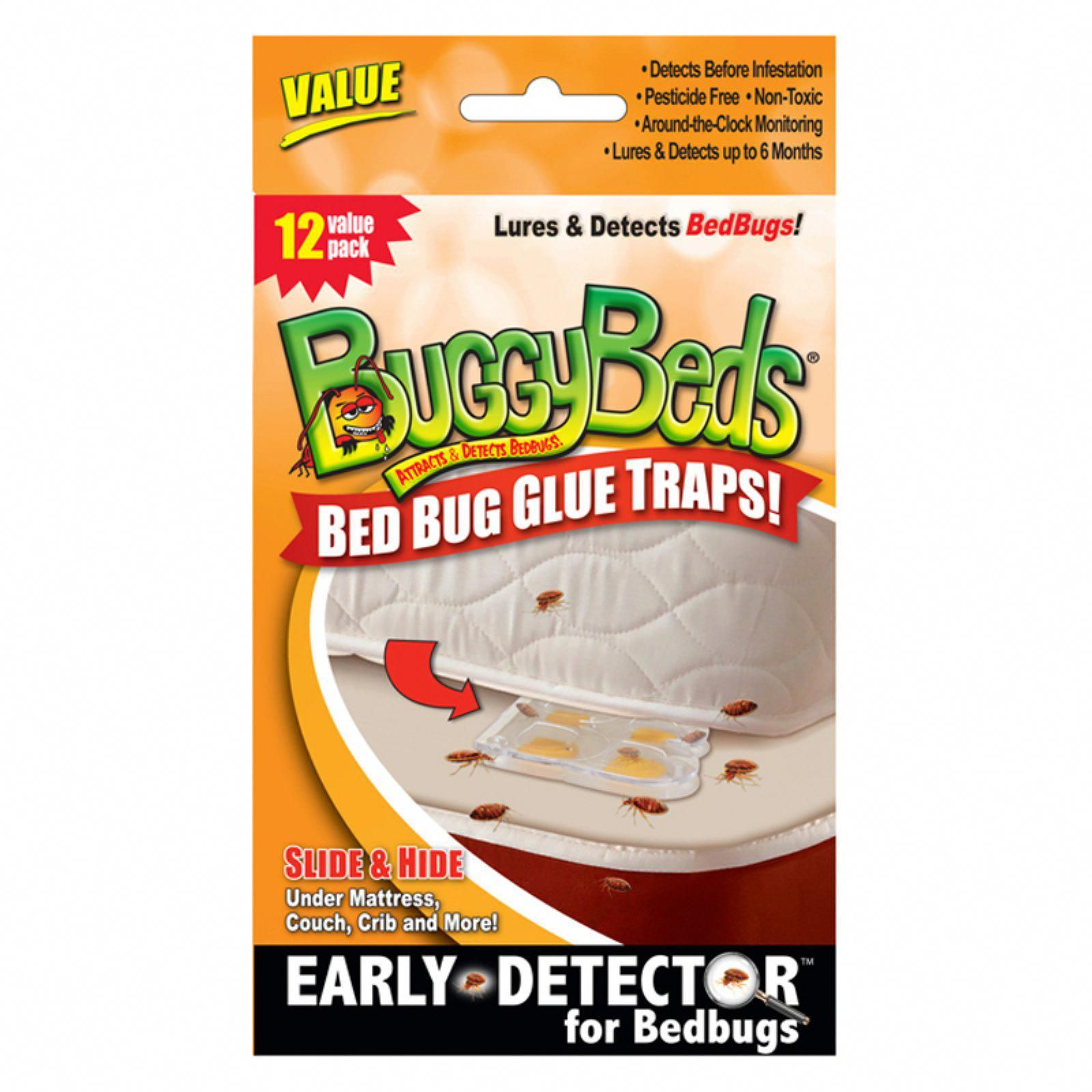 BuggyBeds Value Bed Bug Glue Traps 12 Pack