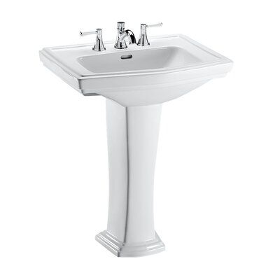 Toto Clayton Vitreous China 27 Pedestal Bathroom Sink With