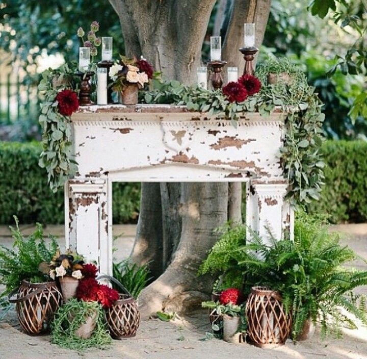 Mantle Wedding Altar: Pin On All Things Weddings