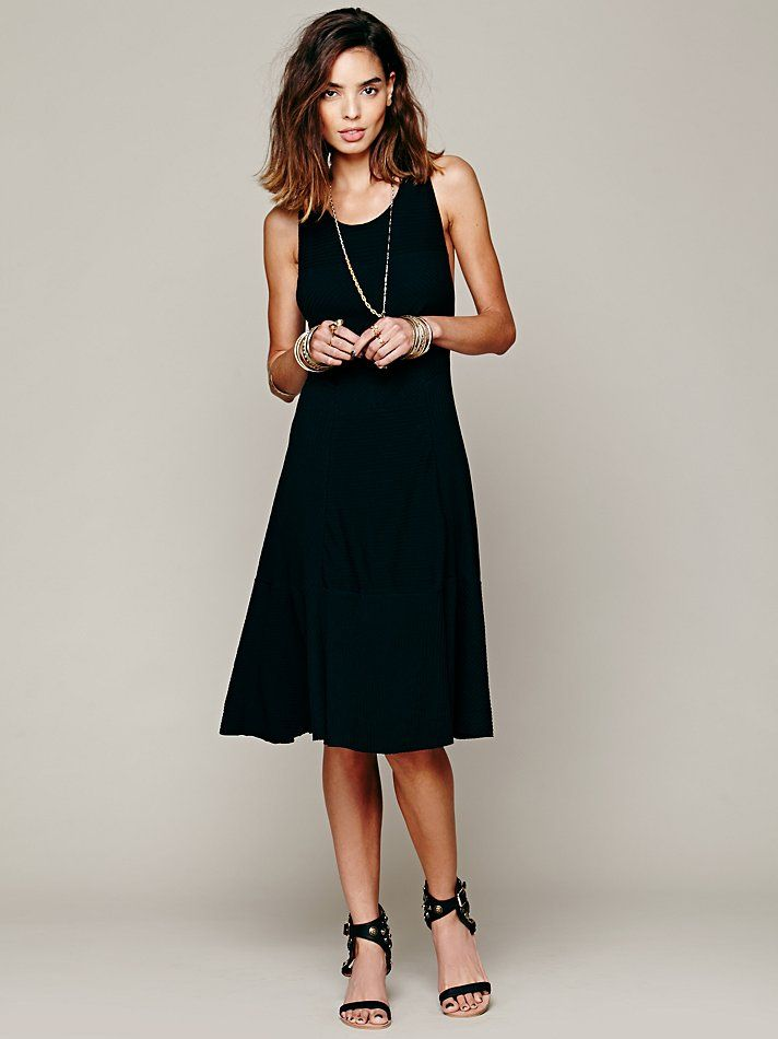 stretchy knit black dress? mid length - yes! nothing beats a ...