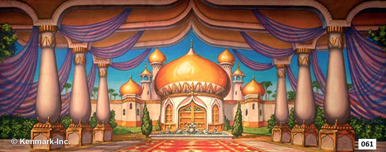 Arabian Courtyard Is A Gorgeous Hand Painted Theatrical Backdrop By Kenmark Scenic Backdrops That Frequently Used For Aladdin And Dance Revues