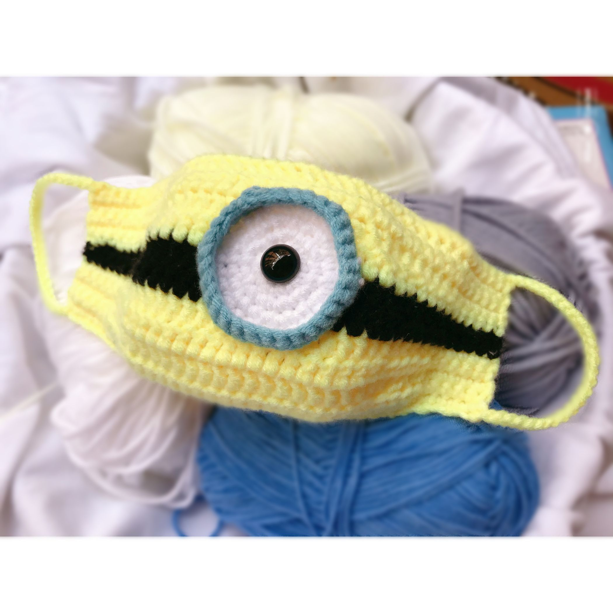 CROCHET PATTERN Face Mask PDF Tutorial -Minions and Frog Cute Mask Pattern for Child