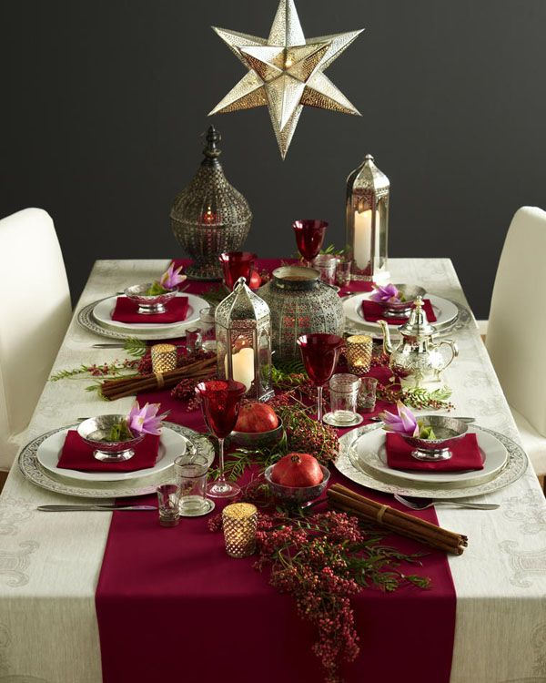 Ideas To Decorate Your Christmas Dinner Table Table Christmas
