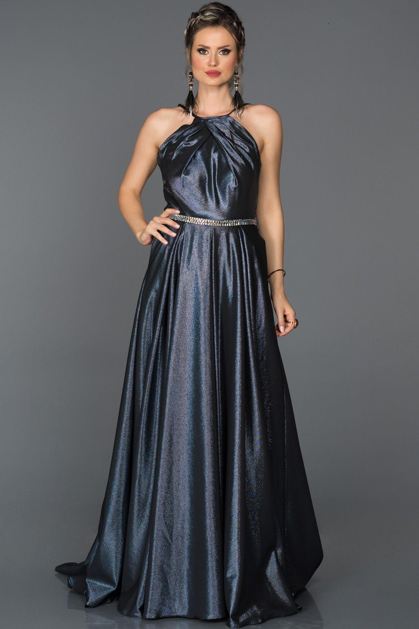 4fa40220202c5 Taşlı Kemer Detaylı Uzun Abiye AB7569 | 2018 Abiye Elbise Modelleri ...